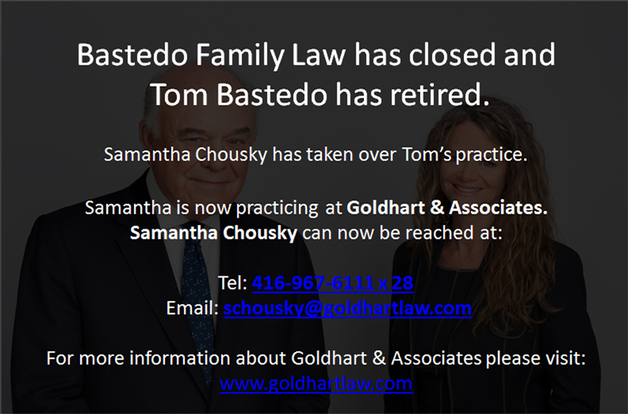 Tom Bastedo and Samantha Chousky | Bastedo Family Law
